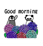 毎日使えるペンギンとパンダ2(英語版)(個別スタンプ:01)