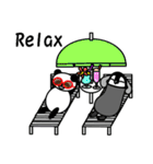 毎日使えるペンギンとパンダ2(英語版)(個別スタンプ:02)