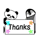 毎日使えるペンギンとパンダ2(英語版)(個別スタンプ:09)