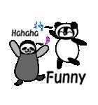 毎日使えるペンギンとパンダ2(英語版)(個別スタンプ:20)