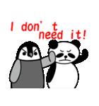 毎日使えるペンギンとパンダ2(英語版)(個別スタンプ:37)