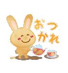 水彩えほん【もさぎとうさちゃの毎日編】(個別スタンプ:05)