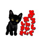 今日も黒猫で!(個別スタンプ:5)