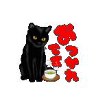 今日も黒猫で!(個別スタンプ:9)