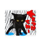 今日も黒猫で!(個別スタンプ:10)