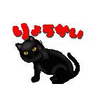 今日も黒猫で!(個別スタンプ:11)