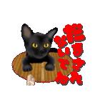 今日も黒猫で!(個別スタンプ:21)