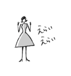 Woman Otona【日本語】(個別スタンプ:14)