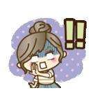 ナチュラルガール♥【デカ文字♪家族連絡】(個別スタンプ:35)