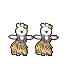 すこぶる動くウサギ【常夏】(個別スタンプ:3)