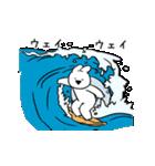 すこぶる動くウサギ【常夏】(個別スタンプ:10)