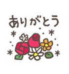 適度にかわいい*感謝と挨拶に花を添えて(個別スタンプ:01)