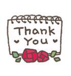 適度にかわいい*感謝と挨拶に花を添えて(個別スタンプ:02)