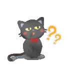 水彩えほん【黒猫ボシュの毎日編】(個別スタンプ:18)