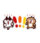 省スペース★敬語❤️ハチワレネコと豆柴犬(個別スタンプ:34)