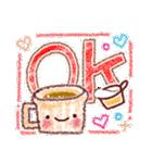 ゆるっと手描きクレヨン♪あいさつ(個別スタンプ:02)