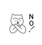 1本まゆげ犬ハッピーくん(個別スタンプ:37)