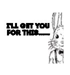 Bad mouth Rabbit(バッドマウスラビット)(個別スタンプ:01)