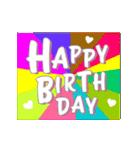 【動く★お誕生日】心からの贈り物(個別スタンプ:05)