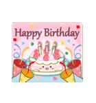 大人のための動く誕生日・お祝いスタンプ