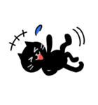 シンプルな黒猫のスタンプ(個別スタンプ:27)