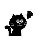 シンプルな黒猫のスタンプ(個別スタンプ:38)