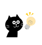シンプルな黒猫のスタンプ(個別スタンプ:39)