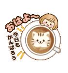 おかっぱ女子【心温か♡冬・年末年始】(個別スタンプ:02)