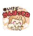 おかっぱ女子【心温か♡冬・年末年始】(個別スタンプ:03)