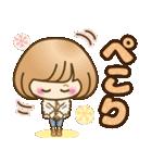 おかっぱ女子【心温か♡冬・年末年始】(個別スタンプ:06)