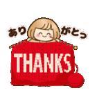 おかっぱ女子【心温か♡冬・年末年始】(個別スタンプ:07)