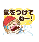 おかっぱ女子【心温か♡冬・年末年始】(個別スタンプ:19)