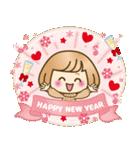 おかっぱ女子【心温か♡冬・年末年始】(個別スタンプ:27)