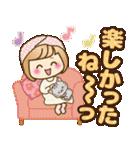 おかっぱ女子【心温か♡冬・年末年始】(個別スタンプ:36)