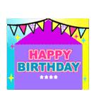 名前を入れて❤️お誕生日を祝おうカスタム(個別スタンプ:4)
