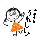 クレヨン手描きSIMPLEおんなのこ☆カスタム(個別スタンプ:02)