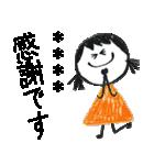 クレヨン手描きSIMPLEおんなのこ☆カスタム(個別スタンプ:03)