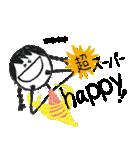 クレヨン手描きSIMPLEおんなのこ☆カスタム(個別スタンプ:05)