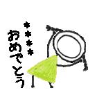 クレヨン手描きSIMPLEおんなのこ☆カスタム(個別スタンプ:06)