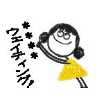 クレヨン手描きSIMPLEおんなのこ☆カスタム(個別スタンプ:10)