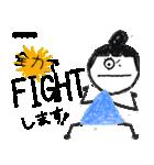 クレヨン手描きSIMPLEおんなのこ☆カスタム(個別スタンプ:13)