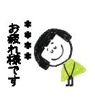 クレヨン手描きSIMPLEおんなのこ☆カスタム(個別スタンプ:21)