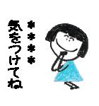クレヨン手描きSIMPLEおんなのこ☆カスタム(個別スタンプ:23)