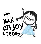 クレヨン手描きSIMPLEおんなのこ☆カスタム(個別スタンプ:25)