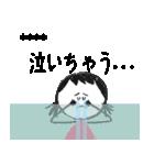クレヨン手描きSIMPLEおんなのこ☆カスタム(個別スタンプ:34)