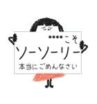 クレヨン手描きSIMPLEおんなのこ☆カスタム(個別スタンプ:36)