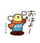 冬のインコちゃん【カスタム】(個別スタンプ:1)