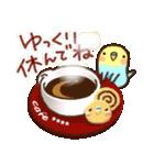 冬のインコちゃん【カスタム】(個別スタンプ:10)