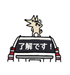 ボブの車スタンプ 旧白1(個別スタンプ:21)