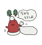 サンタ帽さんの冬スタンプ(個別スタンプ:04)